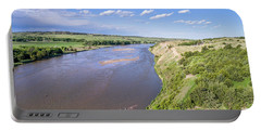 aerial view of Niobrara River in Nebraska Sand Hills Portable Battery Charger