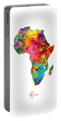Africa Watercolor Map Portable Battery Charger