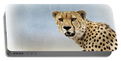 African Elephant Closeup Square Portable Battery Charger