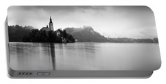 After The Rain At Lake Bled Portable Battery Charger