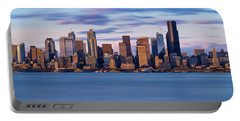 Almost Sunset In Seattle  Portable Battery Charger by Ken Stanback