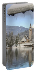 Portable Battery Charger featuring the photograph Alpine Winter Clarity by Ian Middleton