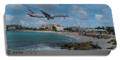 American Airlines Landing At St. Maarten Portable Battery Charger