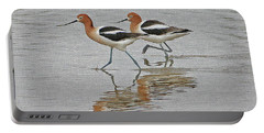 American Avocets  Portable Battery Charger by Tom Janca