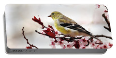 American Goldfinch In Spring Portable Battery Charger