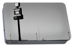 Portable Battery Charger featuring the photograph American Interstate - Kansas I-70 Bw 4 by Frank Romeo