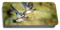 Portable Battery Charger featuring the photograph American Widgeon by Tam Ryan