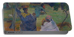 Among The Mangoes At Martinique Portable Battery Charger by Paul Gauguin