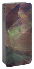 Portable Battery Charger featuring the digital art Andee Design Abstract 66 2017 by Andee Design