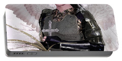 Angel Watercolor Portable Battery Charger by Suzanne Silvir