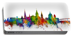 Portable Battery Charger featuring the digital art Annapolis Maryland Skyline by Michael Tompsett