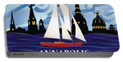 Annapolis Skyline Red Sail Boat Portable Battery Charger