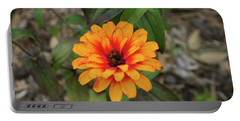 Another Orange Flower Portable Battery Charger by Cathy Harper