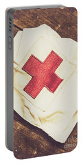 Antique Nurses Hat With Red Cross Emblem Portable Battery Charger