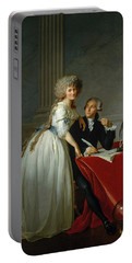 Antoine-laurent Lavoisier And His Wife Portable Battery Charger