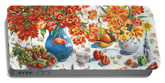 Apples And Oranges Portable Battery Charger by Alexandra Maria Ethlyn Cheshire