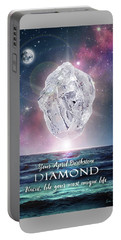 April Birthstone Diamond Portable Battery Charger