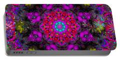 Portable Battery Charger featuring the digital art April Rain by Robert Orinski