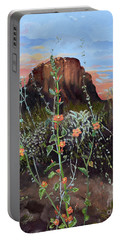 Arizona Desert Flowers-dwarf Indian Mallow Portable Battery Charger