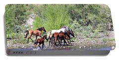 Portable Battery Charger featuring the photograph Arizona Wild Horses by Matalyn Gardner
