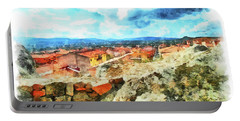 Arzachena Landscape With Clouds Portable Battery Charger