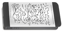 Asemic Writing 01 Portable Battery Charger