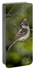 Ash-throated Flycatcher Portable Battery Charger by Anthony Mercieca