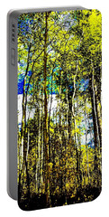Aspen Forest Abstract Portable Battery Charger by Jennifer Lake