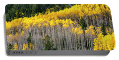 Aspen Trees In Fall Color Portable Battery Charger