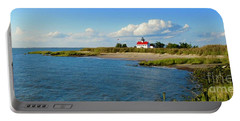 Autumn At East Point Lighthouse Portable Battery Charger
