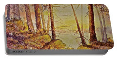 Autumn Glow Portable Battery Charger by Carolyn Rosenberger