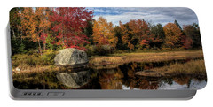 Portable Battery Charger featuring the photograph Autumn In Maine by Greg DeBeck