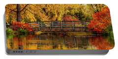 Autumn In The Park Portable Battery Charger by Teri Virbickis