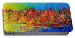 Portable Battery Charger featuring the painting Autumn by Teresa Wegrzyn