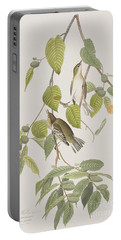 Autumnal Warbler Portable Battery Charger by John James Audubon