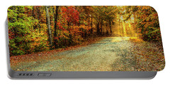 Autumns Path Portable Battery Charger by Darren Fisher