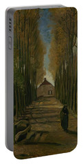 Avenue Of Poplars In Autumn Nuenen, October 1884 Vincent Van Gogh 1853 - 1890 Portable Battery Charger