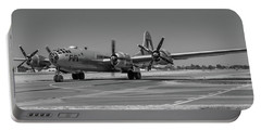 B29 Superfortress Taxiing At Modesto Portable Battery Charger