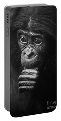 Portable Battery Charger featuring the photograph Baby Bonobo Portrait by Helga Koehrer-Wagner