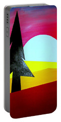 Portable Battery Charger featuring the digital art Big Bad Moon Rising by J R Seymour
