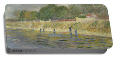 Bank Of The Seine Paris, May - July 1887 Vincent Van Gogh 1853 - 1890 Portable Battery Charger