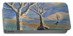 Bare Trees Portable Battery Charger by Judy Via-Wolff