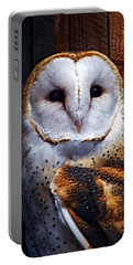 Barn Owl  Portable Battery Charger by Anthony Jones