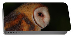 Barn Owl Profile Portable Battery Charger