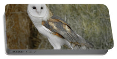 Barn Owl On Hay Portable Battery Charger