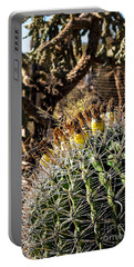 Portable Battery Charger featuring the photograph Barrel Cactus by Lawrence Burry