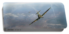 Portable Battery Charger featuring the photograph Battle Of Britain Spitfires Over Kent by Gary Eason
