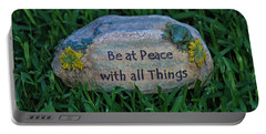 Portable Battery Charger featuring the photograph 1- Be At Peace by Joseph Keane