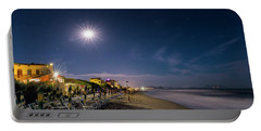 Beach At Night - Spiaggia Di Notte Portable Battery Charger