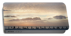 Beach At Sunset Portable Battery Charger